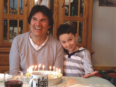 Ashley's dad with his grandson Daniel Ethan