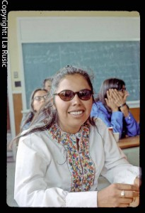 Edna Neeposh at JBNQA meetings in 1971
