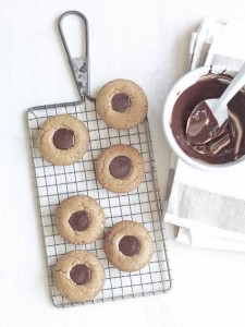Guittard_Peanut Butter Dark Chocolate Thumbprint Cookies